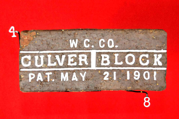 W C. CO.;CULVER BLOCK;PAT. MAY 21 1901