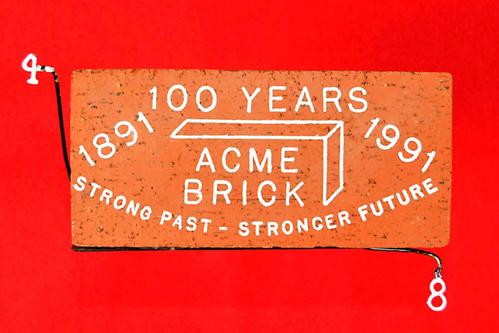 100 YEARS;1891  1991;ACME;BRICK;STRONG PAST  STRONGER FUTURE